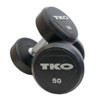 Zestaw hantli stalowych gumowanych 22 - 40 kg TKO