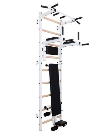 Drabinka gimnastyczna z drążkiem, poręczami i ławeczką 313W BenchK 240 x 67 cm