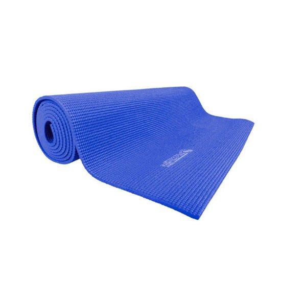 Niebieska mata do jogi Insportline PVC 173 x 60 x 0.5 cm