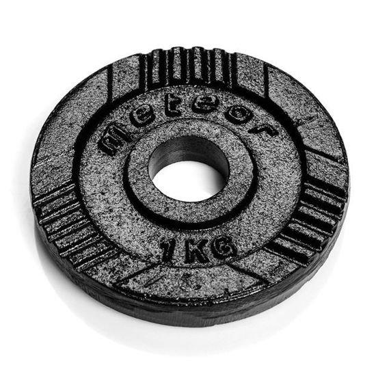 Obciążenie żeliwne Meteor czarne (28 mm) 1kg