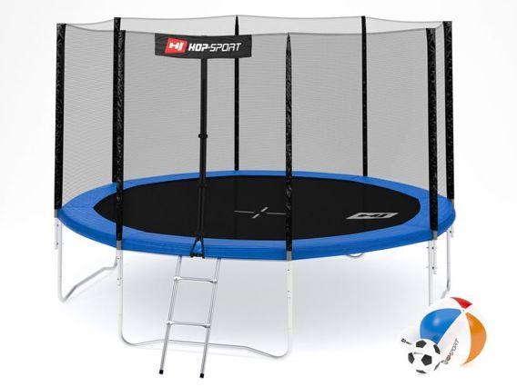 Trampolina ogrodowa 12ft (366cm) z siatką zewnętrzną Hop-Sport - 4 nogi