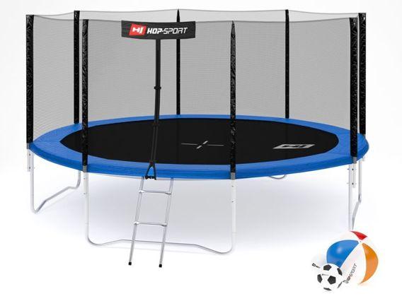 Trampolina ogrodowa 14ft (427cm) z siatką zewnętrzną Hop-Sport - 4 nogi