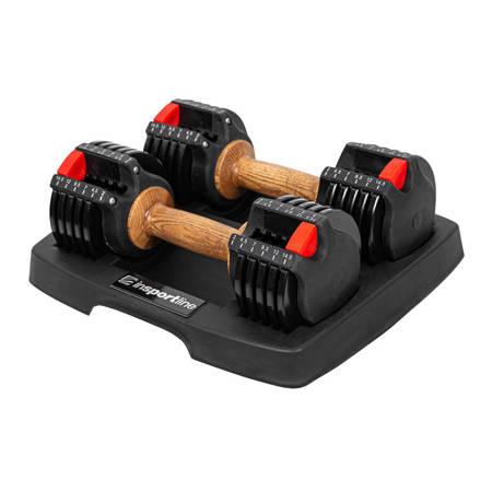 Zestaw hantli regulowanych Ironer 15 Insportline 2 x 6,60 kg